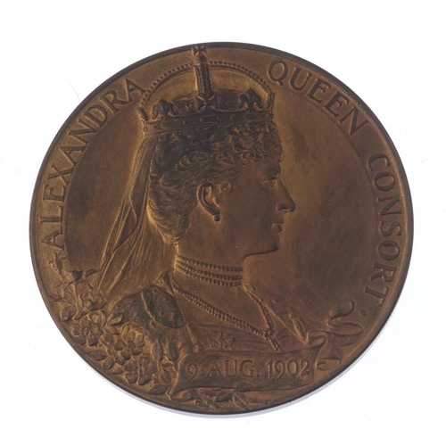 243 - Edward VII, Coronation 1902, official bronze medal by GW de Saulles, 56mm, in Royal Mint case of iss...