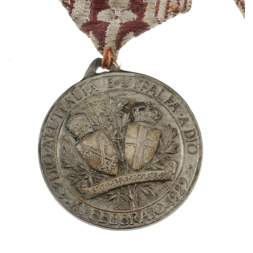 247 - Sutlej Medal, Sobraon 1846 reverse, named to 'Michl Drake 9th Lancers'. Together with a silver Alber...