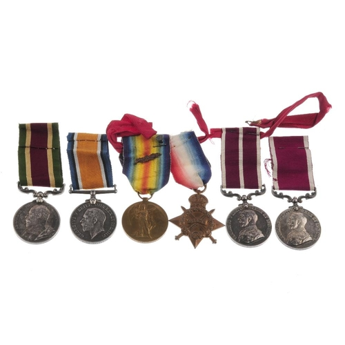 248 - Tibet, Great War and Long Service medal group, Tibet Medal, silver, to 'Lce. Corpl. F. Mathews. 11th...