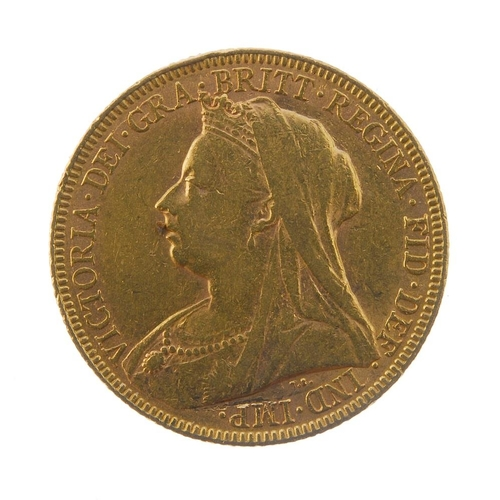 25 - Victoria, Sovereign 1893, old head. Good fine. <br>Good fine. <br>...