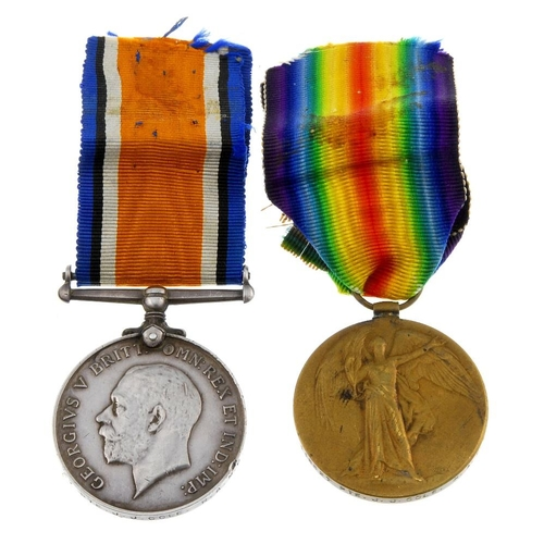 254 - Great War Pair, British War Medal 1914-20, Victory Medal, named to '116627 Pte. J.J. Cole. R.A.M.C.'...