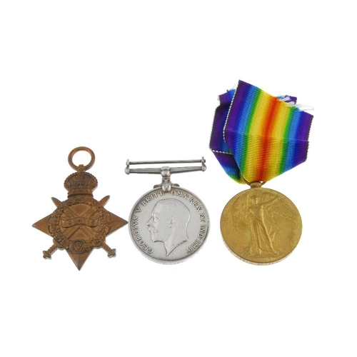260 - Great War Trio, 1914-15 Star, British War Medal 1914-20, Victory Medal, named to '39432. Pte. J. Jer...