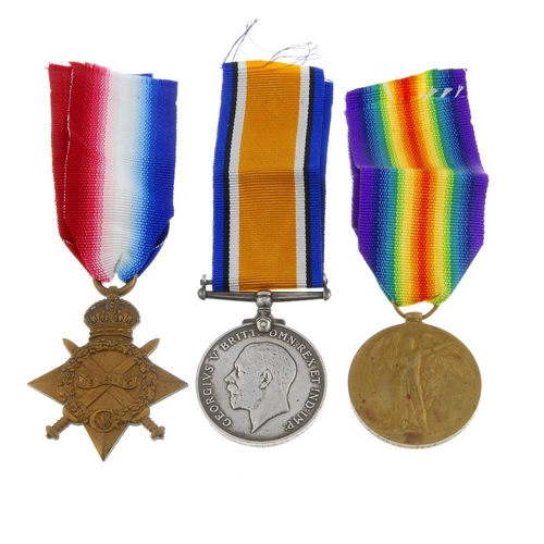 261 - Great War Trio, 1914-15 Star, British War Medal 1914-20, Victory Medal, named to '50566 A. Cpl. W. M...