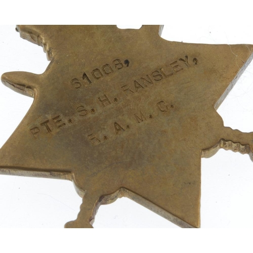 266 - Great War Trio, 1914-15 Star, British War Medal 1914-20, Victory Medal, named to '61008 Pte. S. H. R...
