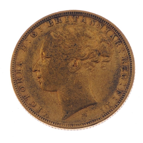 27 - Victoria, Sovereign 1880M. Fine.  <br>Fine.  <br>...