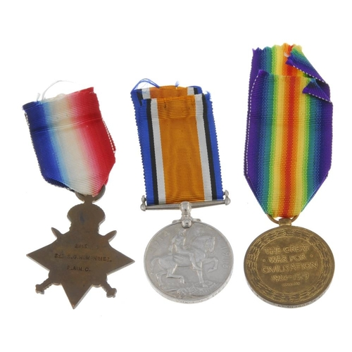 271 - Great War Trio, 1914-15 Star, British War Medal 1914-20, Victory Medal, named to '2415 A. S. Sjt. S....