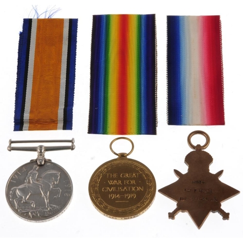 273 - Great War, Casualty Trio and Memorial plaque, 1914-15 Star, British War Medal 1914-20, Victory Medal...