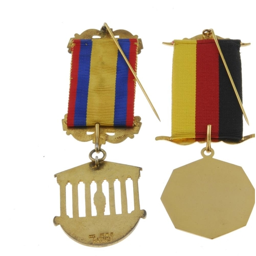285 - RAOB, Western Germany Province No.5, Lodge No.8414, enamel and silver-gilt jewel hallmarked London 1...