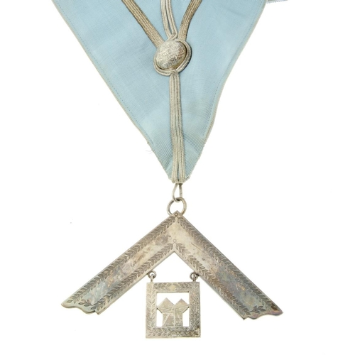 289 - Masonic, a silver-gilt and enamel Jewel engraved to reverse 'Presented to W.Bro R.W.A Wombwell 41st ...