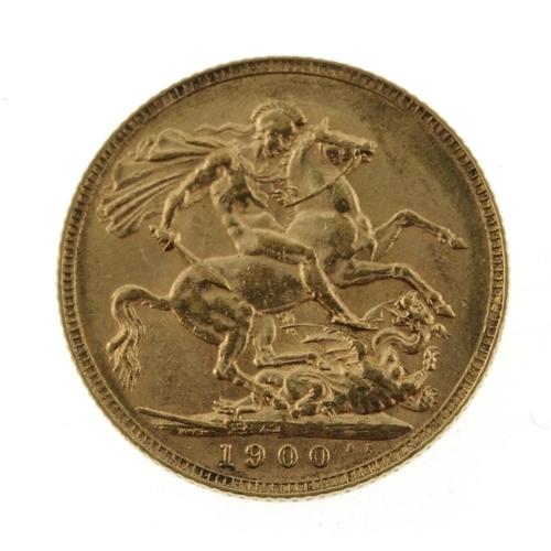 29 - Victoria, Sovereign 1900. Very fine.  <br>Very fine.  <br>...