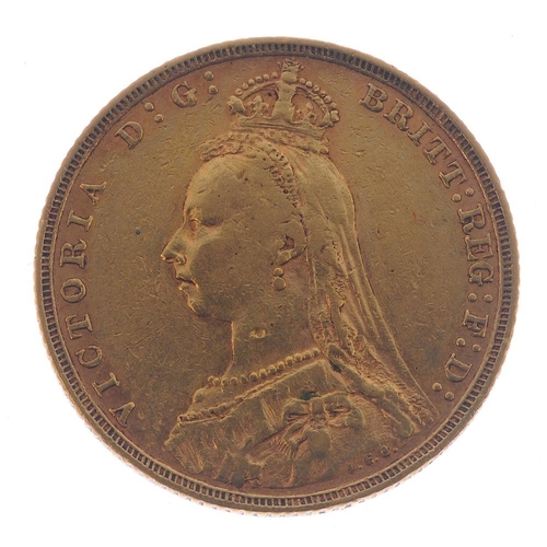 32 - Victoria, Sovereign 1893M. Very fine.  <br>Very fine.  <br>...