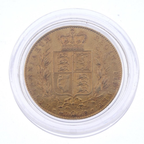38 - Victoria, Sovereign 1842, rev. shield (S 3852). Very fine, ex loose mount. <br>Very fine, ex loose m...