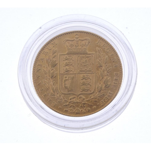41 - Victoria, Sovereign 1846, rev. shield (S 3852). Very fine.  <br>Very fine.  <br>...