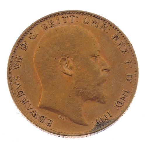 47 - Edward VII, Sovereign 1903. Very fine.  <br>Very fine.  <br>...