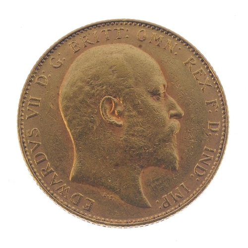 56 - Edward VII, Sovereign 1907P. Very fine. <br>Very fine. <br>...