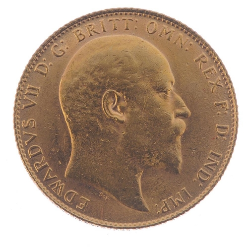 60 - Edward VII, Sovereign 1906. Good very fine. <br>Good very fine. <br>...
