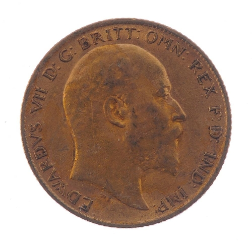 62 - Edward VII, Half-Sovereign 1910. Very fine. <br>Very fine. <br>...