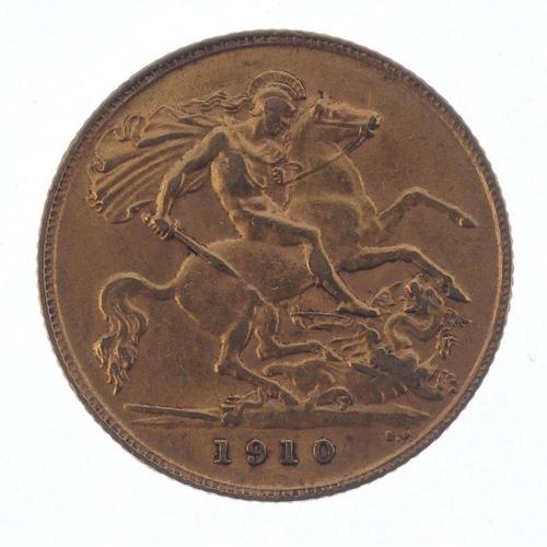 62 - Edward VII, Half-Sovereign 1910. Very fine. <br>Very fine. <br>...