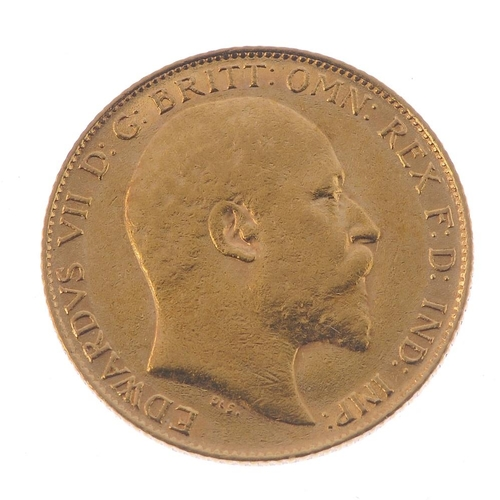 65 - Edward VII, Half-Sovereign 1909. Very fine.  <br>Very fine.  <br>...