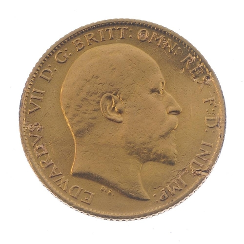 66 - Edward VII, enamelled Half-Sovereign, reverse enamelled in six colours (some red enamel scratched fr...