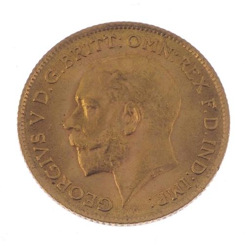 78 - George V, Half-Sovereign 1914. Good very fine.  <br>Good very fine.  <br>...