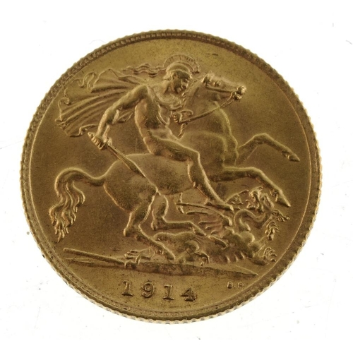 78 - George V, Half-Sovereign 1914. Good very fine.  <br>Good very fine.  <br>...