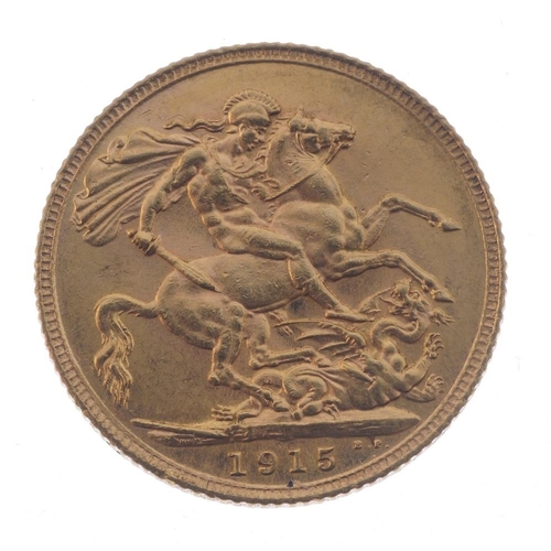 79 - George V, Sovereign 1915. Good very fine. <br>Good very fine. <br>...