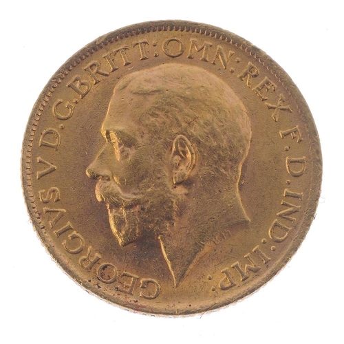 81 - George V, Sovereign 1915. Good very fine. <br>Good very fine. <br>...