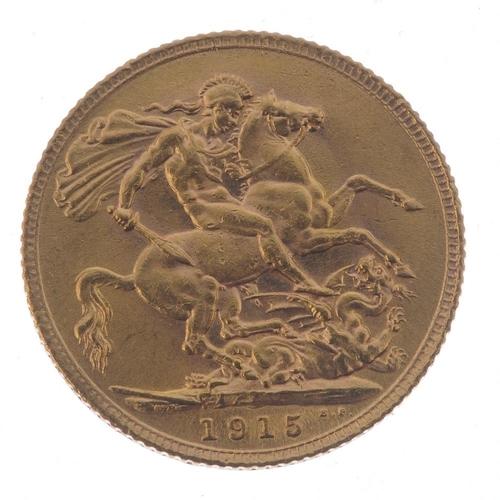 83 - George V, Sovereign 1915. Good very fine. <br>Good very fine. <br>...