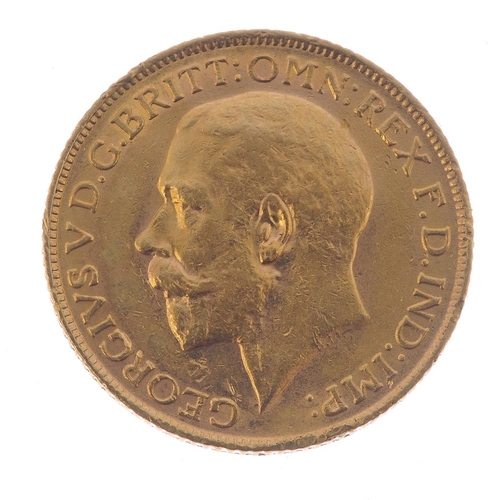 86 - George V, Sovereign 1913. Very fine. <br>Very fine. <br>...