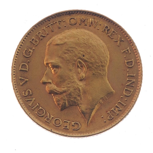 94 - George V, Half-Sovereign 1912, very fine, silver music award medal dated 1926, extremely fine, cased...