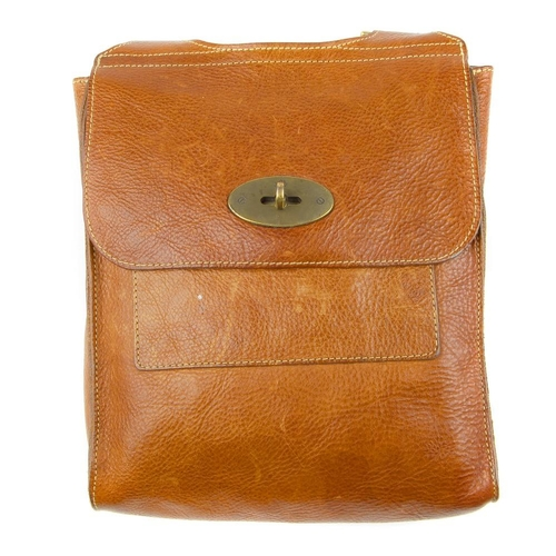 728f6e5f4b5 331 - MULBERRY - a small oak Antony messenger handbag. Designed with a  brown leather