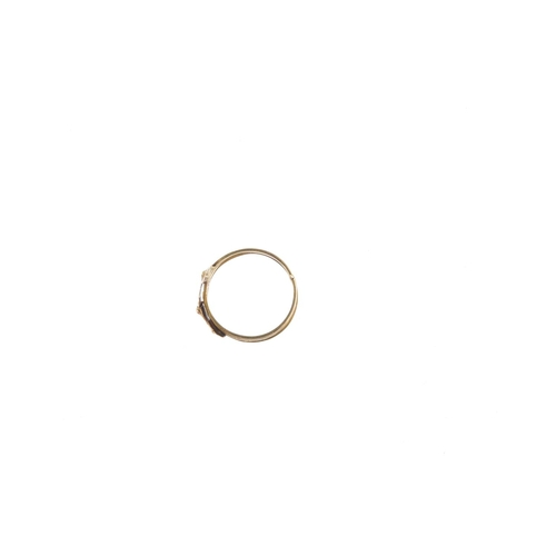 128 - A 19th century gold fede ring. Comprising three bands, the clasped hands opening to reveal joined he...