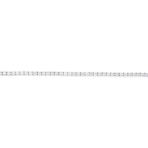 184 - A diamond bracelet. Designed as a brilliant-cut diamond line, with push-piece clasp. Estimated total...
