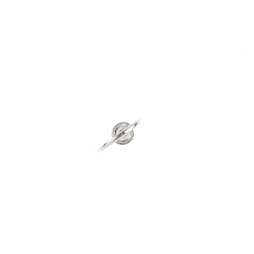 328 - An 18ct gold diamond cluster ring. The brilliant-cut diamond, with similarly-cut diamond halo and si...
