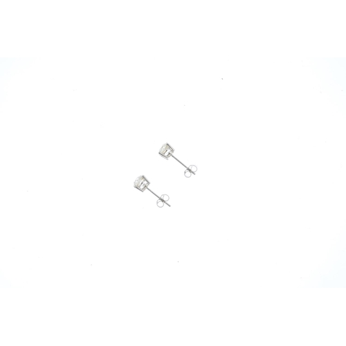 47 - A pair of 18ct gold old-cut diamond stud earrings. Estimated total diamond weight 1.70cts, I-K colou...