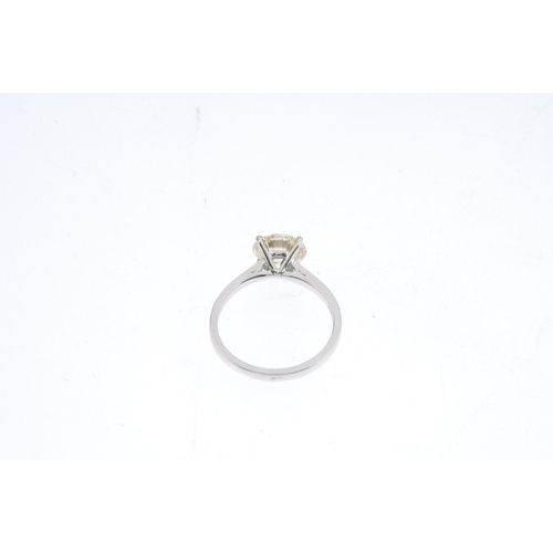 472 - An 18ct gold diamond single-stone ring. The brilliant-cut diamond, with plain band. Diamond weight 1...