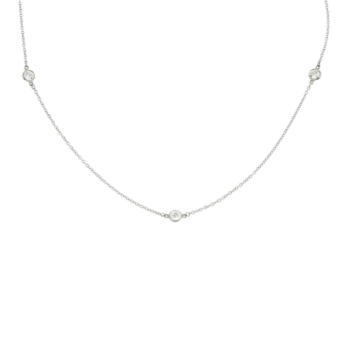 86 - TIFFANY & CO. - a 'Diamonds by the Yard' necklace. Designed as a series of five brilliant-cut diamon...