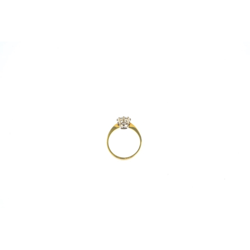 106 - An 18ct gold diamond single-stone ring. The brilliant-cut diamond, with tapered shoulders. Estimated...