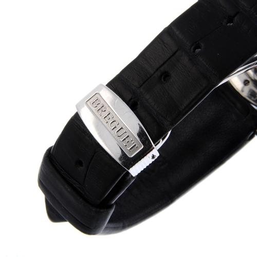1 - BREGUET - a Marine chronograph wrist watch. Platinum factory diamond set case and lugs, bezel set wi...