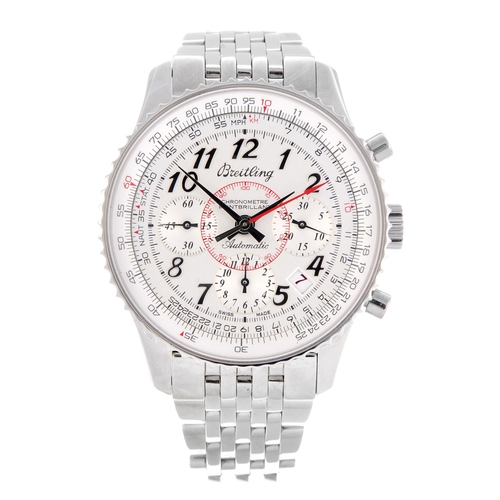 17 - BREITLING - a limited edition gentleman's Navitimer Montbrilliant chronograph bracelet watch. Number...