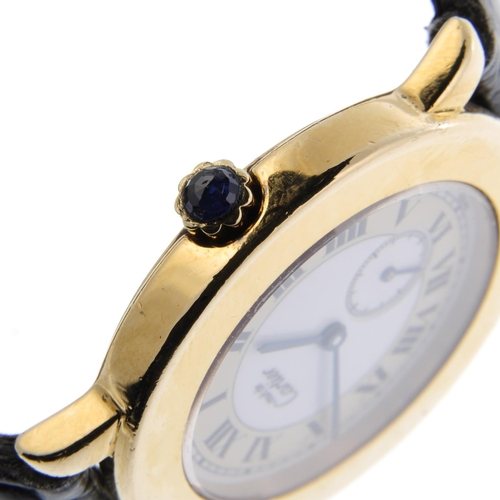 27 - CARTIER - a Must De Cartier Ronde wrist watch. Gold plated silver case. Reference 1810 1, serial 002...