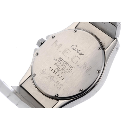 30 - CARTIER - a Cougar bracelet watch. Stainless steel case with engraved case back. Reference 1920, ser...