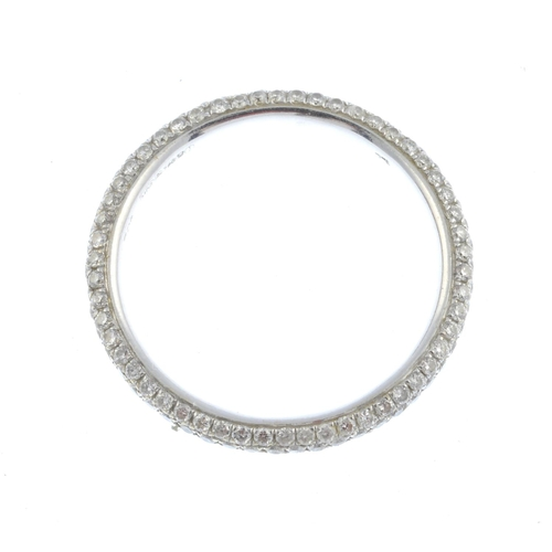 4 - An 18ct gold diamond full eternity ring. Designed as a pave-set diamond band. Estimated total diamon...