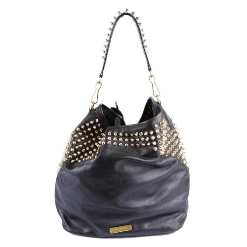 ac38e7ea3af 15 - BURBERRY - a black leather studded hobo handbag. Designed with a black  leather
