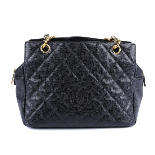 4f5c9442e0d8 37 - CHANEL - a Petite Timeless Tote. Crafted from pebbled black caviar  leather with