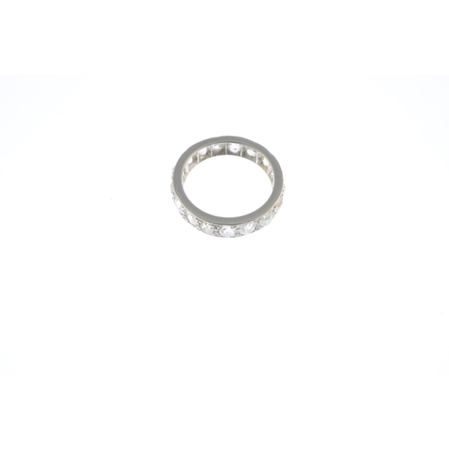 17 - A diamond full eternity ring. Designed as an old-cut diamond line. Estimated total diamond weight 2....