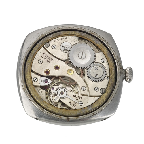 159 - PANERAI - a very rare and special Second World War military Diver watch head. Stainless steel case w...