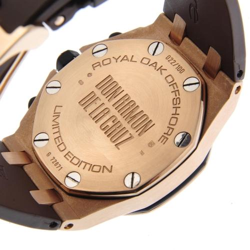 6 - AUDEMARS PIGUET - a limited edition gentleman's Royal Oak Offshore 'Don Ramon De La Cruz' chronograp...