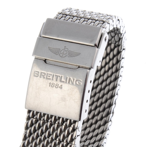11 - BREITLING - a gentleman's Transocean Day & Date bracelet watch. Circa 2015. Stainless steel case. Re...